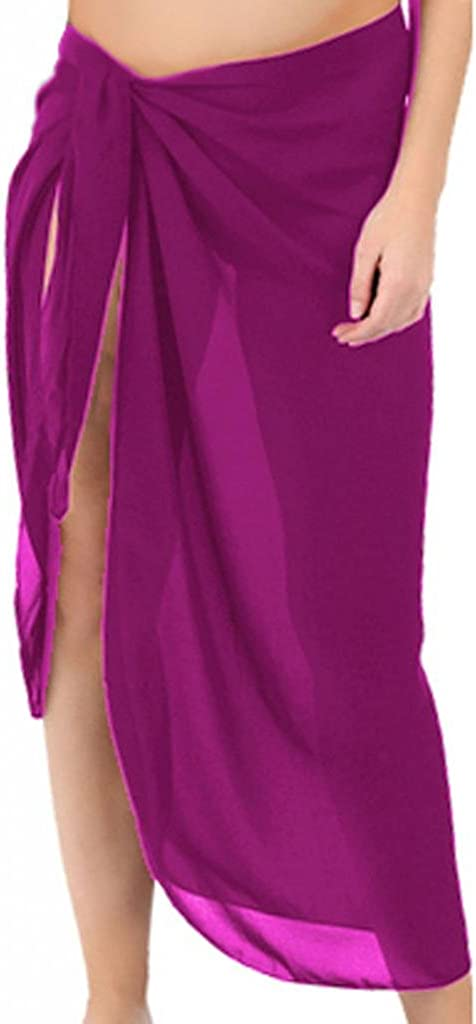 Sanctuarie Women's Sheer Hot Pink Plus Size Sarong Pareo Coverup Pareo Coverup