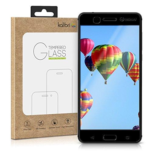 kalibri Folie kompatibel mit Nokia 6 (2017) - 3D Glas Handy Schutzfolie - auch für gewölbtes Bildschirm
