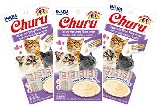 INABA Churu Chicken with Shrimp Flavor Recipe Lickable Purée Natural Cat Treats 12 Tubes