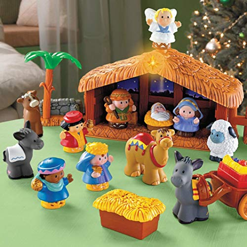 Fisher-Price Little People Deluxe Christmas Story Nativity Set