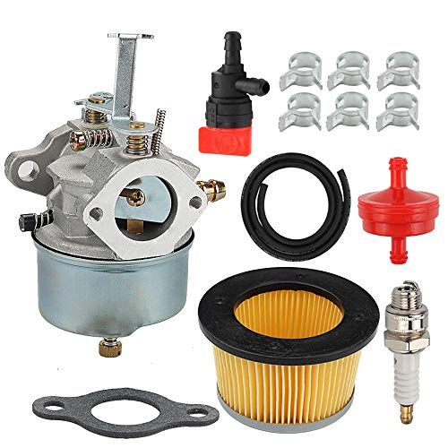 632272 632230 Carburetor 30727 Air Filter Fit Troy Bilt Chipper Vac 47279 47261 65582V John Deere 624D Tiller Tecumseh H30 H50 H60 HH60 HH70 Snowblower