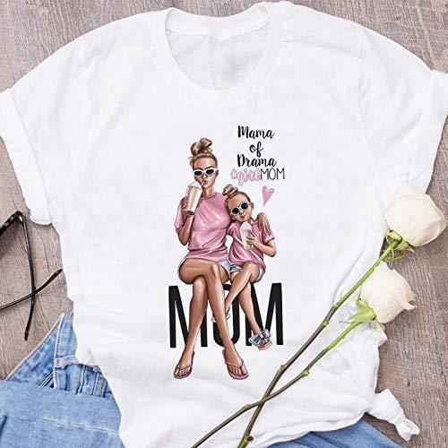 T-Shirt Femme T-Shirt Rose Imprimé Amour De Maman Mama Tshirt Tops Tee Shirt Summer S 1780
