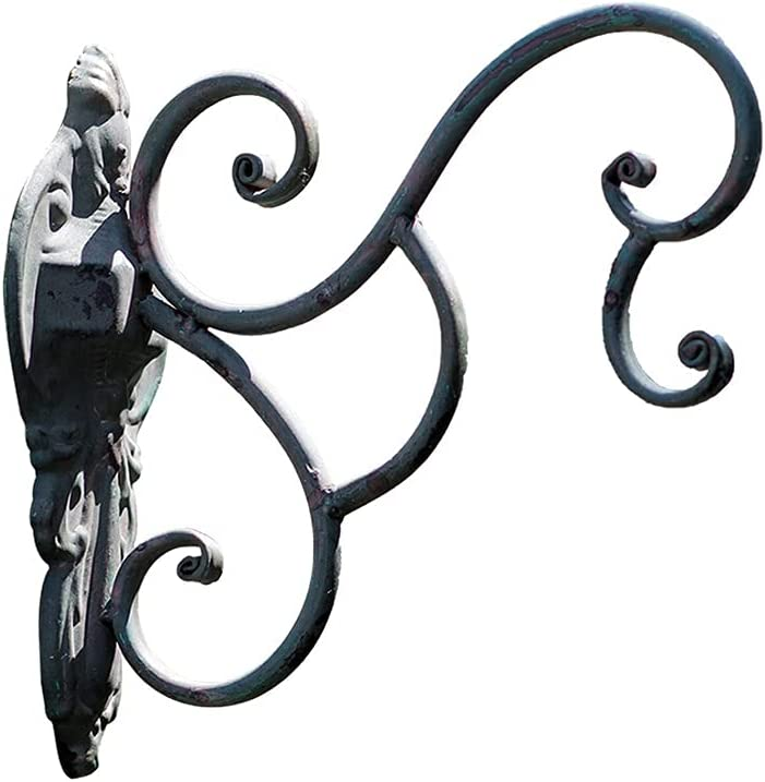 New Shipping Free Shipping MYHZH Hanging Basket Brackets Max 50% OFF Plant Hooks Iron Wrought Outdoor G