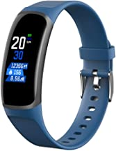 DWGYQ Fitness Tracker  IP67 Waterproof Activity Tracker Smart Bracelet with Heart Rate Monitor Pedometer Step Counter and Sleep Monitor Calorie Watch for Kids Women Men for Android and iOS Blue