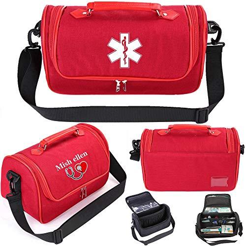 Waterproof First Aid Kit Bag,Medical Bag Travel Outdoor,Medicine Bag,Nurses Storage Bag,Nurse Bags for Work,Nurses Gifts,Doctor Bag with Shoulder Strap for Home Car Hiking (Red)