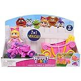 Muppets 14432 Babies Piggy N Trike N Carriage, Multicolor