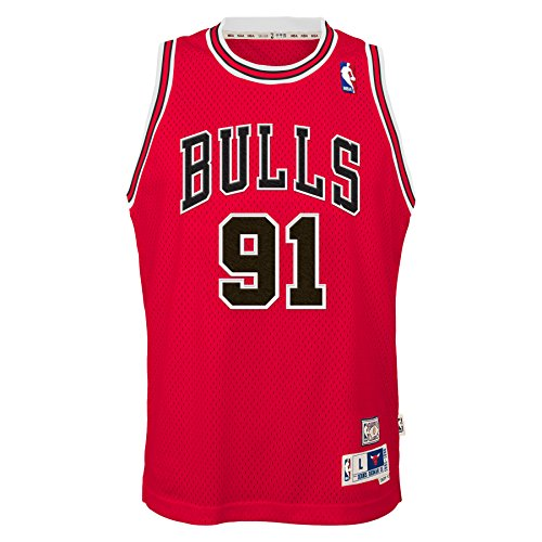 OuterStuff Dennis Rodman Chicago Bulls NBA Youth Throwback Swingman Jersey - Red