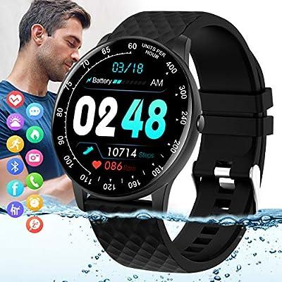 Peakfun Smart Watch,Fitness Tracker Watch with Blood Pressure Heart Rate Monitor IP67 Waterproof Bluetooth Smartwatch Smart Bracelet Sports Activity Watch Compatible Android iOSPhones for Men Women