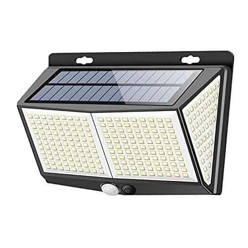 Fenteer ABS IP65 Lámpara de Pared con luz Solar Sensor de Movimiento inalámbrico Ángulo Amplio de 270 Grados, Decoración para jardín Camino Deck Valla Puerta