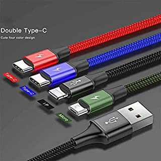 Baseus Fast 4-in-1 Cable For lightning+Type-C(2)+Micro 3.5A 1.2M Black