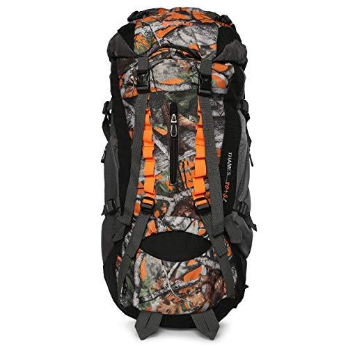Impulse Waterproof Travelling Trekking Hiking Camping Bag Backpack Series 85 litres Orange Thames P Rucksack