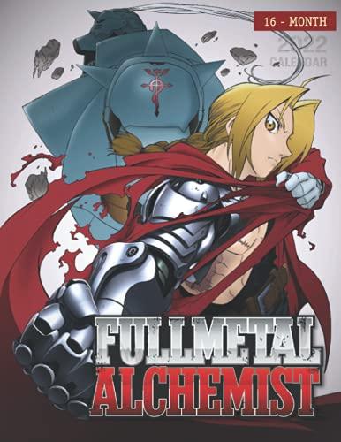 Fullmetal Alchemist Calendar 2022: 16-month mini Calendar from Sep 2021 to Dec 2022 for all fans