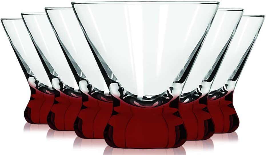 Libbey Red Cosmopolitan Dessert Glasses Accent 8 Max 85% OFF with Many popular brands Colored -