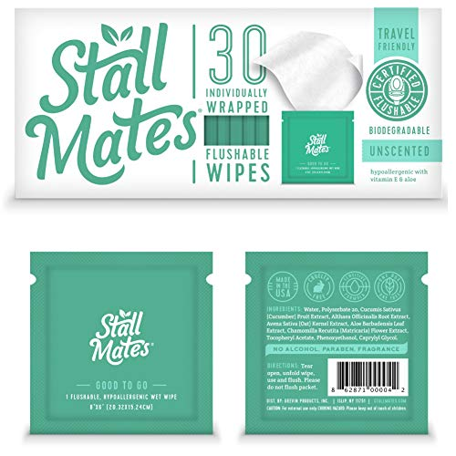commercial Stall Mate: Individually wrapped cloth on the go. Odorless vitamin E and aloe … flushable wipes biodegradable