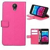starz mobiles accessoires ARCHOS Core 50 - Tasche Gummi TPU Schutz Handytasche (Folio Pink)