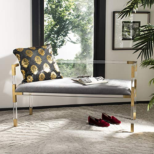 Safavieh Couture Collection Anastasia Bronze Acrylic Bench