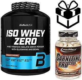 biotech whey zero lactose free 2,27kg vainilla + carnitine