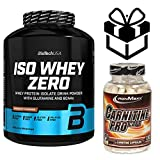 biotech whey zero lactose free 2,27kg chocolate + carnitine