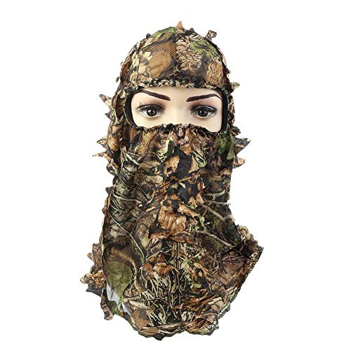 Toamtion Camouflage Face Mask - Jagdzubehör - Jagdhut - Truthahnjagd - Jagdmaske - Tarnmaske - 3D belaubte Balaclava Airsoft Paintball
