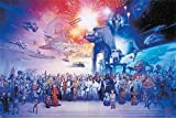 POSTER STOP ONLINE The Star Wars Galaxy - Episode I-VI - Movie Poster/Print (All Characters, Spaceships & Vehicles) (Size 36' x 24')