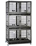 43' Stackable Heavy Duty Cage w/ Feeding Doors and Divider or Additional Tray (3xDG-43-T)