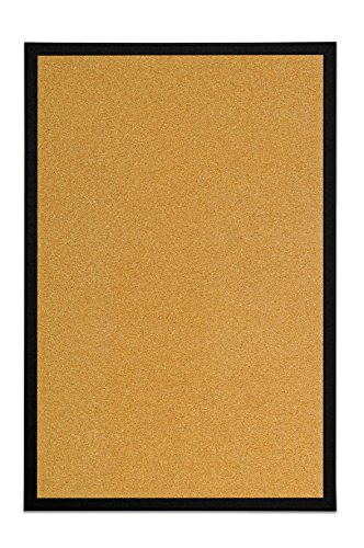 Bi-Office - Tablón de Anúncios de Corcho, Tablero con Marco MDF Negro, 60x40 cm 🔥