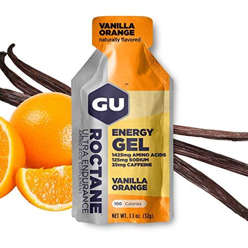 GU Energy Gel Energizante de Vainilla y Naranja - Paquete de 24 x 32 gr - Total: 768 gr