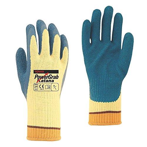 Towa PowerGrab Handschuhe Katana Cut 5, blau/gelb, Größe L