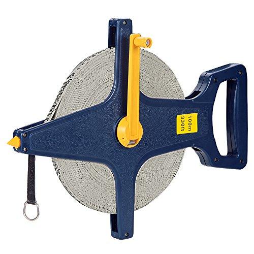 Rolbandmaat grootte grootte keuze 100m 50m met glasvezel versterkte oogje meetlint meetlint meetlint meetlint maat meten roller meter Rollmaßband 100m 0