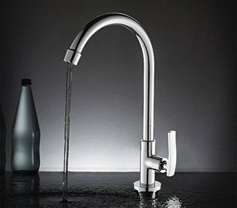 SHLONG Kupfer küche einzigen kalten wasserhahn drehbare waschbecken wasserhahn einzigen griff einlochmontage wasserhahn