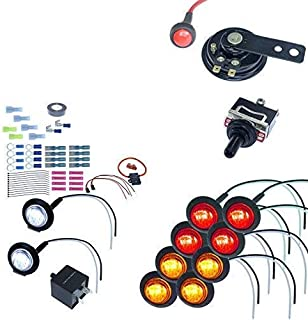 MCSADVENTURES ATV/UTV SXS Turn Signal DIY Street Legal Kit (No Wire, Round LED)