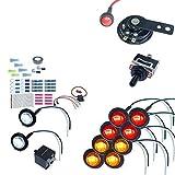 MCSADVENTURES ATV/UTV SXS Turn Signal DIY Street Legal Kit (No Wire, Round LED)