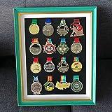xxz Marco de Fotos Medalla Marco de Fotos Original Tipo Caja,de Madera con Cristal y Paspartú,Cuadro Profundo para Meter Objetos de colección,Medalla de Deportes Cuadro en Marcos