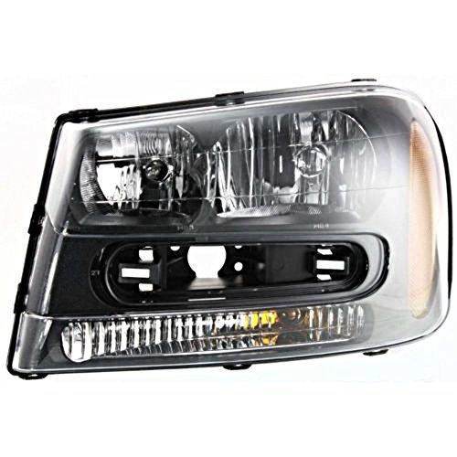 Fits 02-09 Chev Trailblazer 02-06 EXT W/Full-Width Grill Bar Left Drivr Headlamp