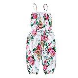 KIDSA 1-7T Baby Toddler Little Girls One-Pieces Floral Corset Romper Jumpsuit Harem Pants