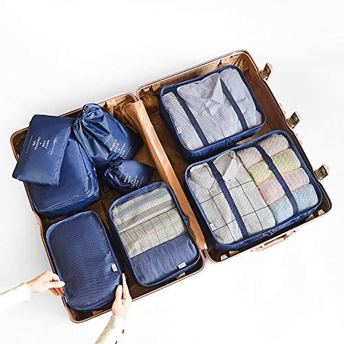 RAP 8 stuks 6 stuks kleding voor thuis reizen overtrek set schoenen scheiding organizer kledingkast koffer pakdobbelstenen