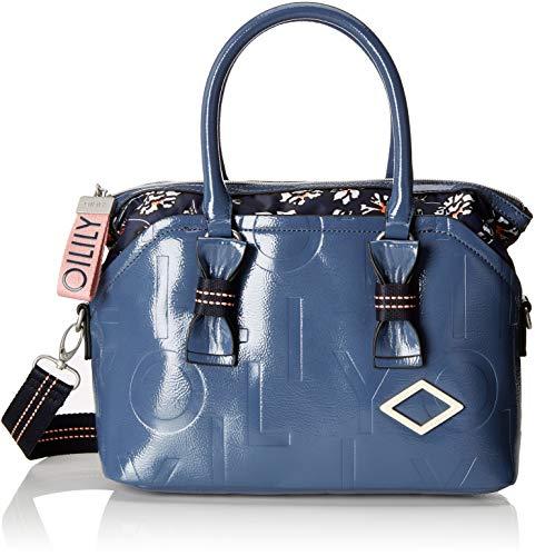 Oilily Damen Brightly Handbag Mhz Henkeltasche Blau (Blue)