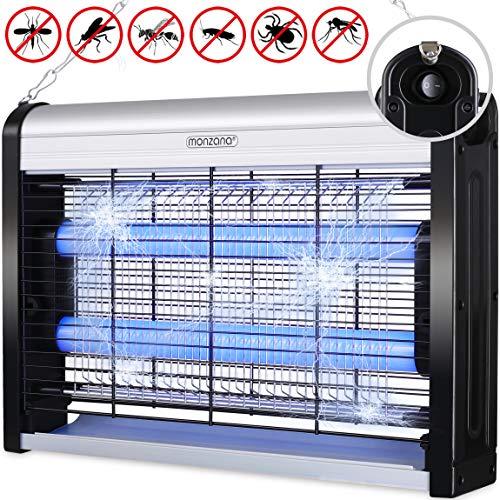 Monzana Insektenvernichter elektrisch UV LED Insektenfalle Mückenlampe Fliegenfänger inkl. Kettenaufhängung