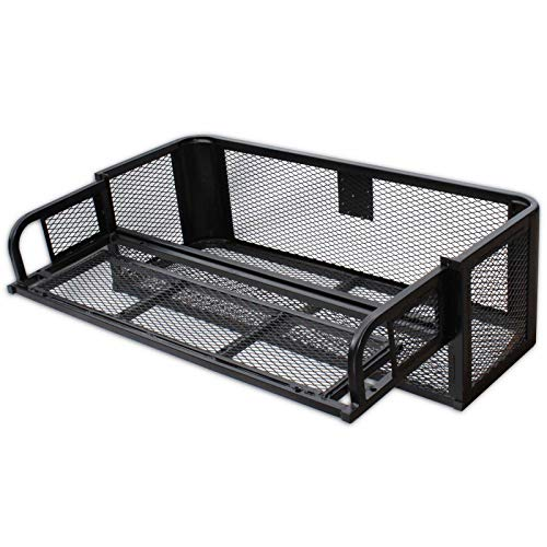 Titan Ramps ATV UTV Universal Rear Drop Cargo Basket Rack Hunting Easy to Install Heavy Duty Steel