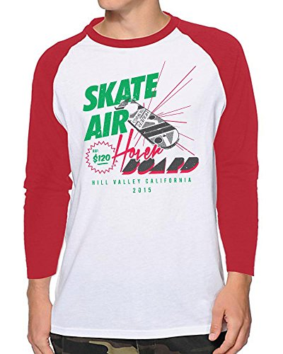 Skate Air Hoverboard Advert Baseball T-shirt in 4 Colours