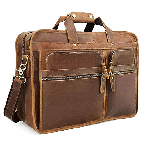 TIDING Leather Briefcase for Men 15.6 Laptop Bag Office,Leather...