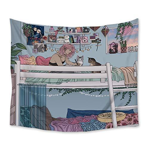 Temprano en la mañana tapiz de pared colgante de pared toalla de playa manta picnic decoración del hogar fondo tela revestimiento de pared a4 150x200cm