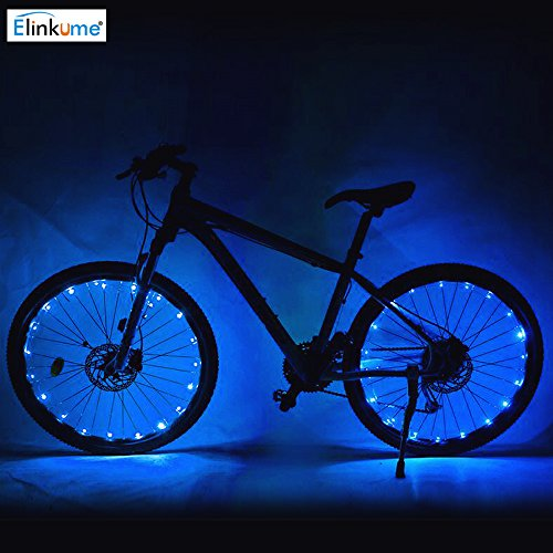 ELINKUME 20 LED Fahrradbeleuchtung, Super Bright Rad Licht gesetzt, Mountain Bike Light, 2 Licht Modi, wasserdicht, (blau)