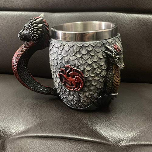 Creative Een Lied van IJs en Vuur Game of Thrones hars wijn schedel kop in roestvrij stalen kop whisky glas bier,drie koppen,501-600ml