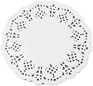 Doilies Paper Lace Round Off White Cake Placemats 100PCS Food Doilies for Cakes, Desserts