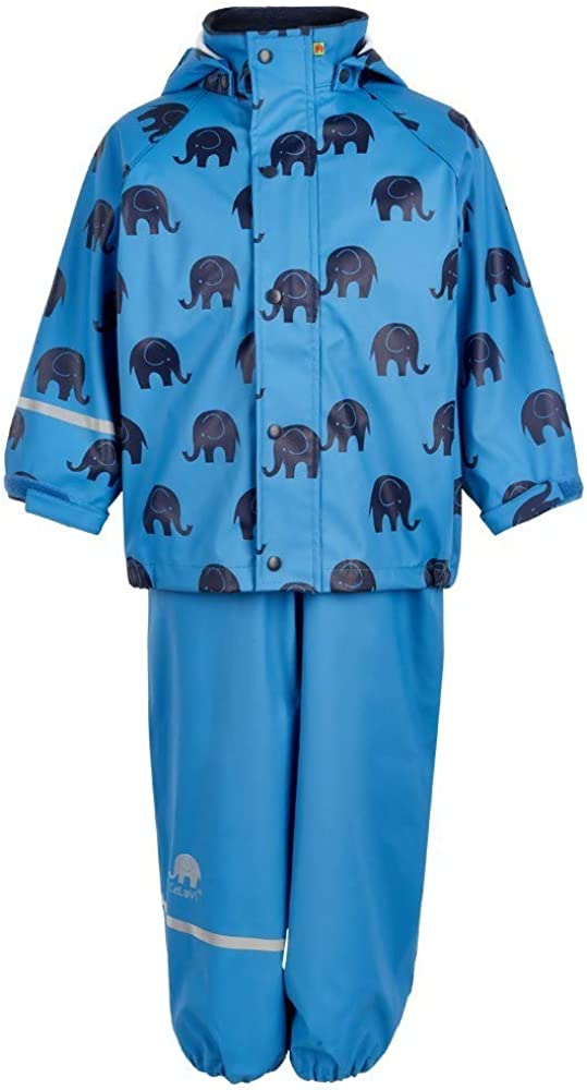 Celavi Boys Zweiteiliger Regenanzug Mit Elefanten Druck Und in Vielen Farben Waterproof Jacket