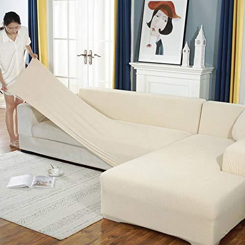 JHLD Alto Elasticizzato Fodere Copridivani, Universale Chaise Longue Sofa Copridivano Spandex Silicone Antiscivolo L Adatto per Copridivano Cane Gatto-I-X-Large + X-Large