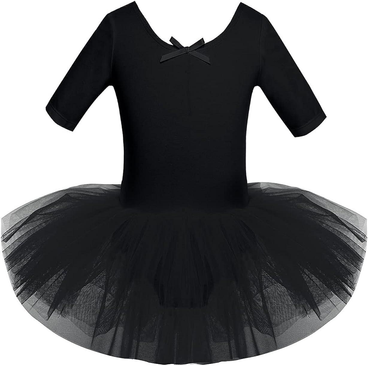 Freebily Girls Ruffle Flying Short Factory outlet Sleeve Dance for Ballet Tulsa Mall Dress