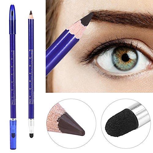Crayon semi-permanent pour sourcils à double tête - Pour tatouages, microblading, maquillage marron