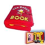 Libro De Tela para Ni/ños Libro De Im/ágenes No Tejido Manual Libro Tridimensional para Educaci/ón Temprana Desarrollo Cognitivo SH-Flying Libros Silenciosos Fieltro